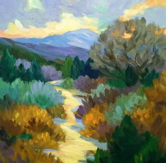Trail up to the Sky painting for 51 art newsletter topics