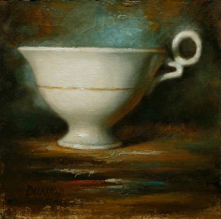 Tea cup painting for How to Start Writing your book post, using tea