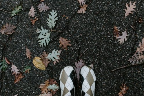 Harlequin Rubber Boots photo for How Art Can Heal A Broken Heart Post, One painting a day