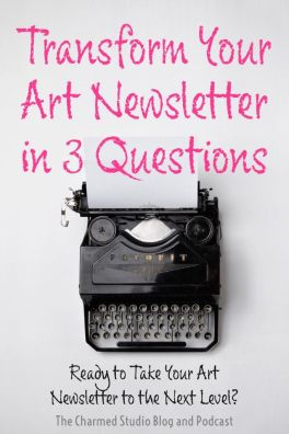 Transform your art newsletter in 3 questions, image of vintage royal typewriter