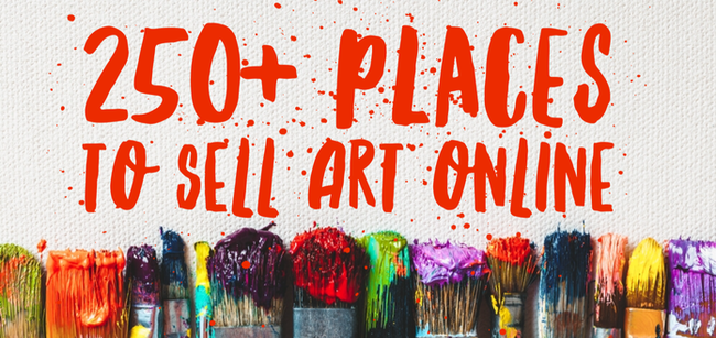 Free resource for artists from the Charmed Studio, where to sell art online.