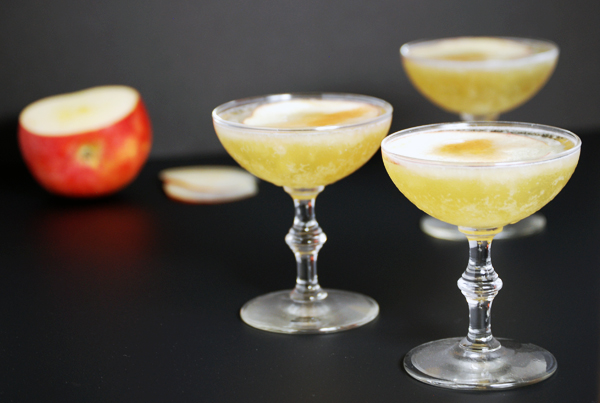 Apple Lavender Pisco Sour: A refreshing take on a classic pisco sour cocktail featuring apple cider and lavender simple syrup.
