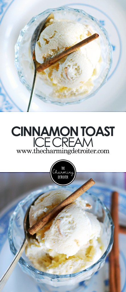 Cinnamon Toast Ice Cream: Deliciously creamy cinnamon flavored ice cream paired with everyone's favorite childhood cereal: Cinnamon Toast Crunch!
