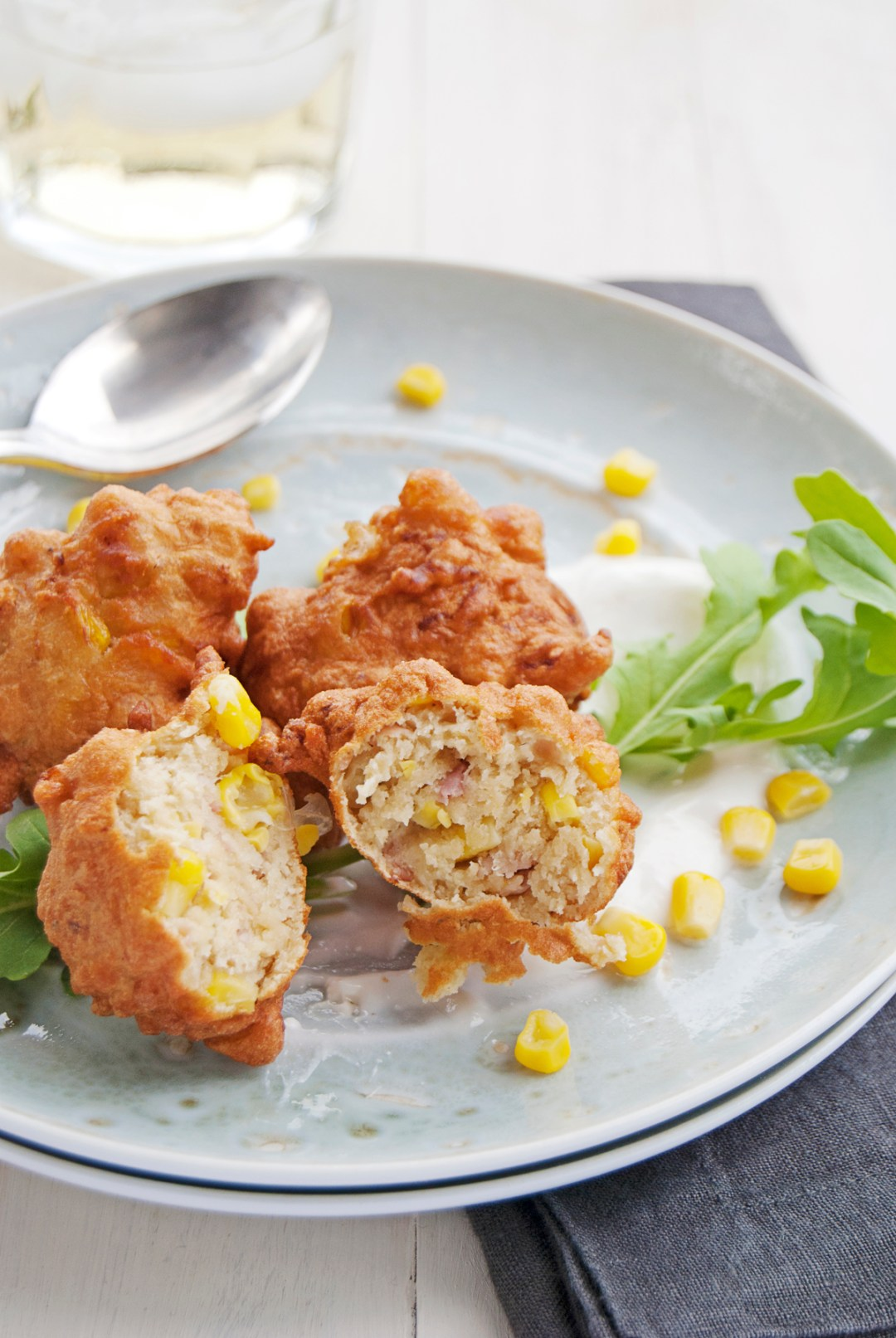 My recipe for prosciutto and corn fritters is based on an old family fritter recipe, and features beautiful shredded prosciutto and tasty corn kernels!