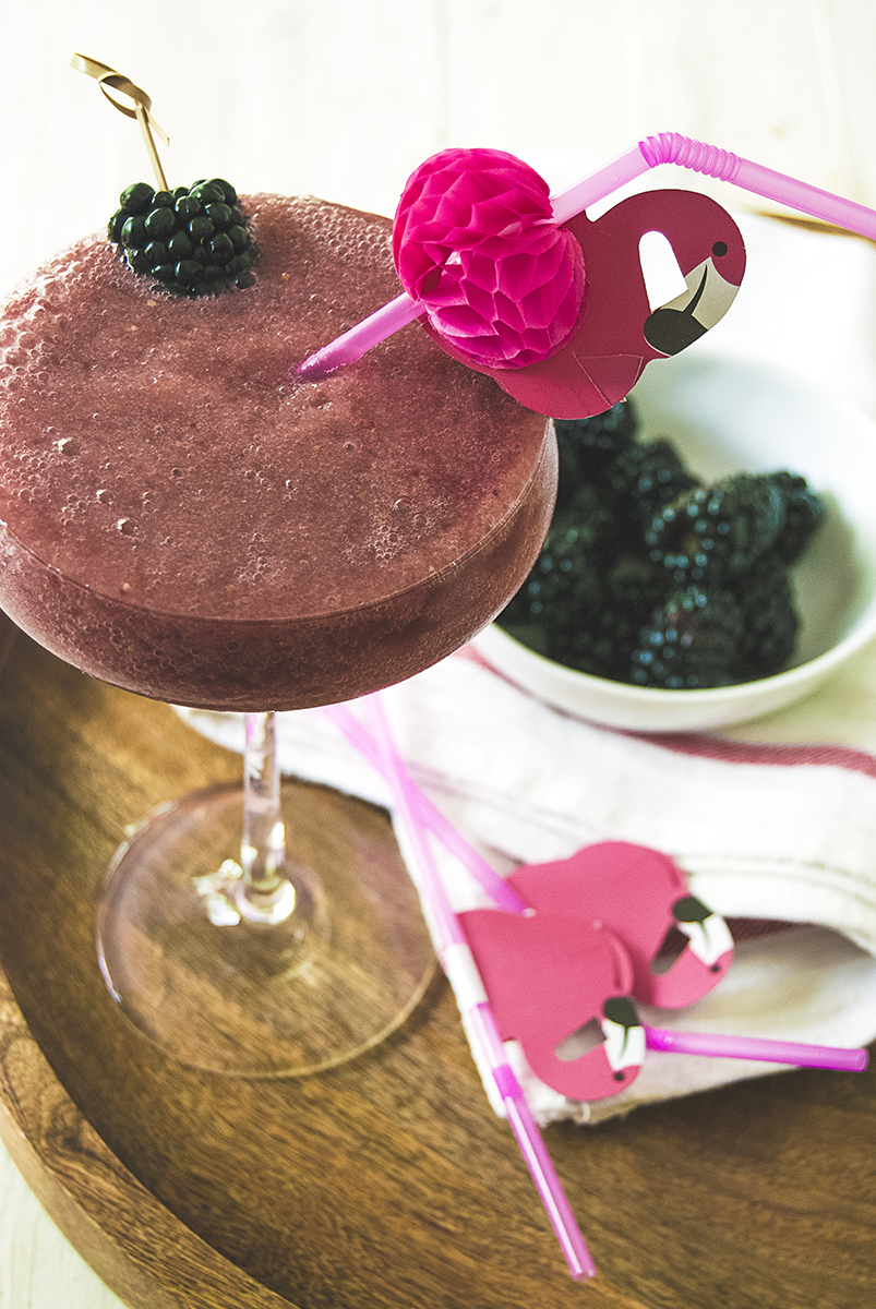 These boozy watermelon slushies are sure to please any summer loving crowd! Made with fresh watermelon and blackberries, they are filled with rosé and Aperol for a refreshing warm weather cocktail.