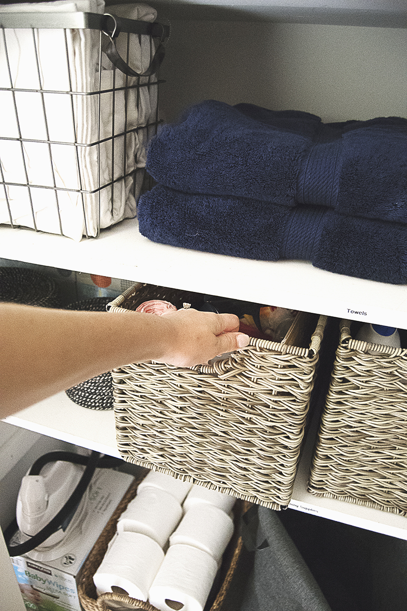 Today I'm sharing one of my favorite recent DIY projects: my DIY linen closet organization makeover! This linen closet went from embarrassingly disorganized to neat and tidy with just a few simple steps and a couple of hours of work!