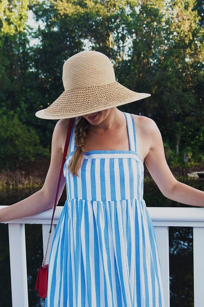 This blue striped sundress was perhaps my favorite purchase this summer - it's light and breezy, super comfortable, and a snap to throw on for any occasion!