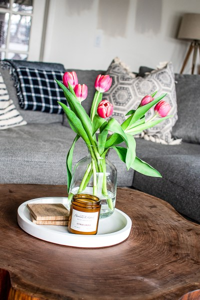 Brighten up your home with spring flower styling! Today I'm sharing my inspo for three different ways to style your florals this season!