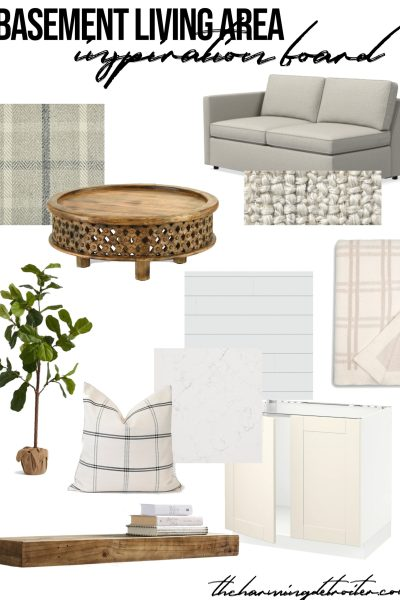 A new remodel project is on the way: this time in the lower level! I'm sharing all my basement inspiration today for remodeling our second living space!