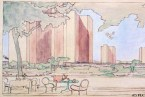 A Picturesque Sketch of Le Corbusier's Le Ville Contemporaine