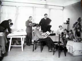 Foreign architects at work on Magnitogorsk, including Mart Stam and Johan Niegemann (circa 1931-1932)
