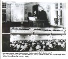 Hannes Meyer delivering a speech to the VASI in the Soviet Union (1930)