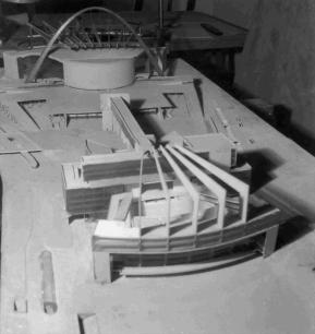 Model of Le Corbusier's proposal for the Palace of the Soviets (1931)