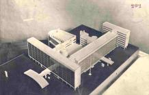 Model of Le Corbusier and Nikolai Kolli's Tsentrosoiuz (completed 1933)