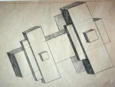 Илья Чашник «Эскиз архитектона» 1929