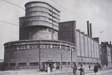 German expressionist architect Erich Mendelsohn's Red Banner Textile Factory in Leningrad (1926), first half of 1930s