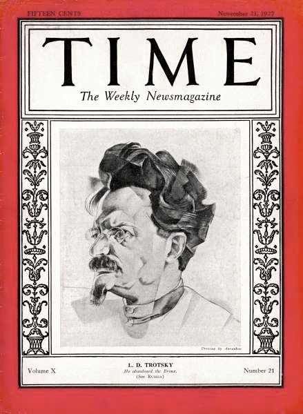 Annenkov's portrait of Trotsky on the cover of Time Magazine