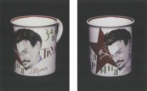 Mikhail Adamovich, porcelain Trotskii mugs (1923)
