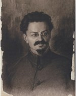 Sergei Pichugin, Portrait of Trotskii (1923)
