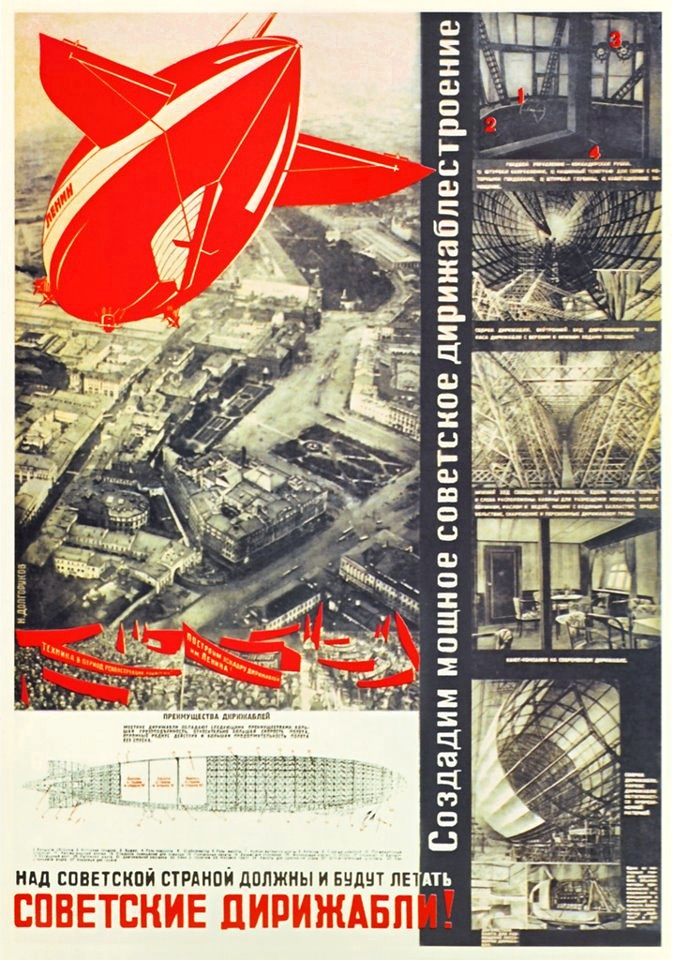 Over the land of the Soviets must fly Soviet dirigibles