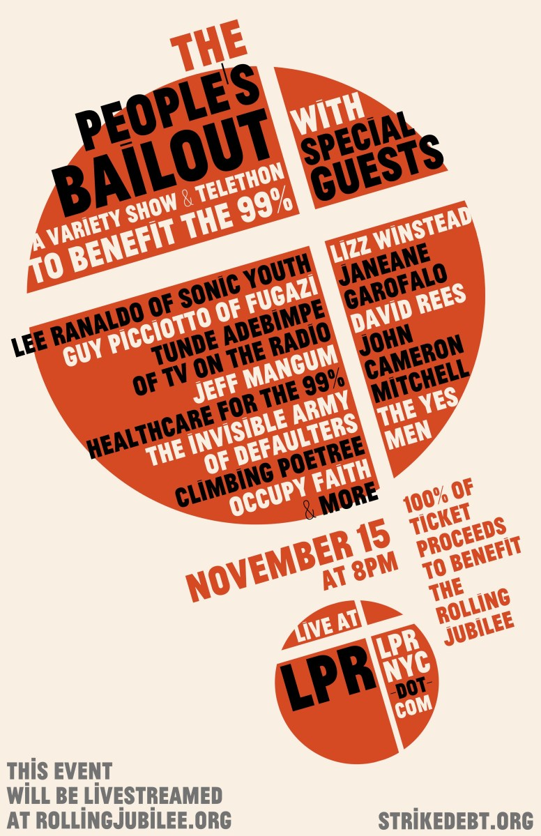 """Suprematist-style poster for """"The People's Bailout"""""""