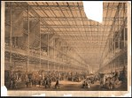 Rendering of the interior of Paxton's 1851 Crystal Palace at Hyde Park