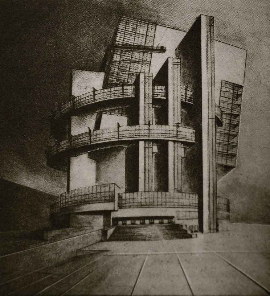 Unknown, project for Nikolai Ladovskii's studio, 1926
