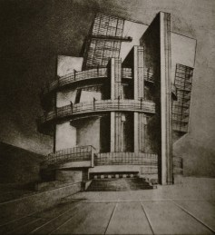 Unknown, project for Nikolai Ladovskii's studio, 1926