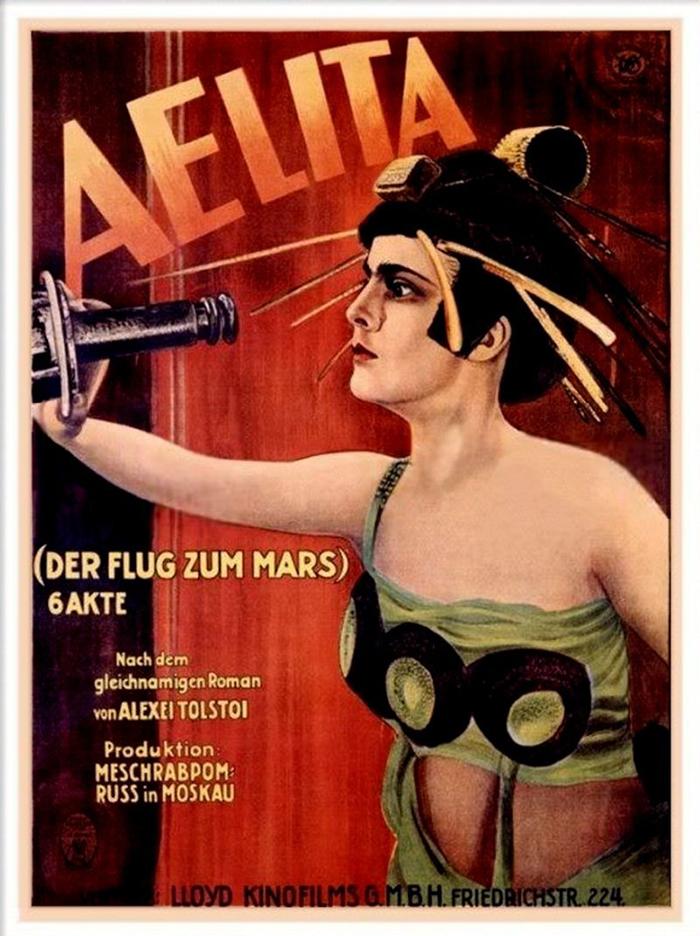 Movie poster for Aelita in German (1924)