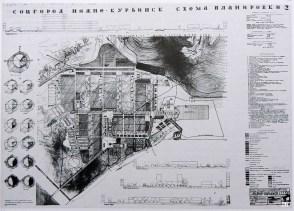 Hannes Meyer's plan for the sotsgorod Nizhne-Kurinsk 1932