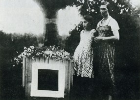 Malevich's grave, underneath the black square (1935)