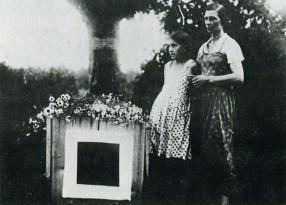 Malevich's grave, underneath the black square (1935)