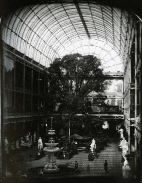 Figure 3: Photograph of the interior of Paxton's 1851 Crystal Palace at Hyde Park