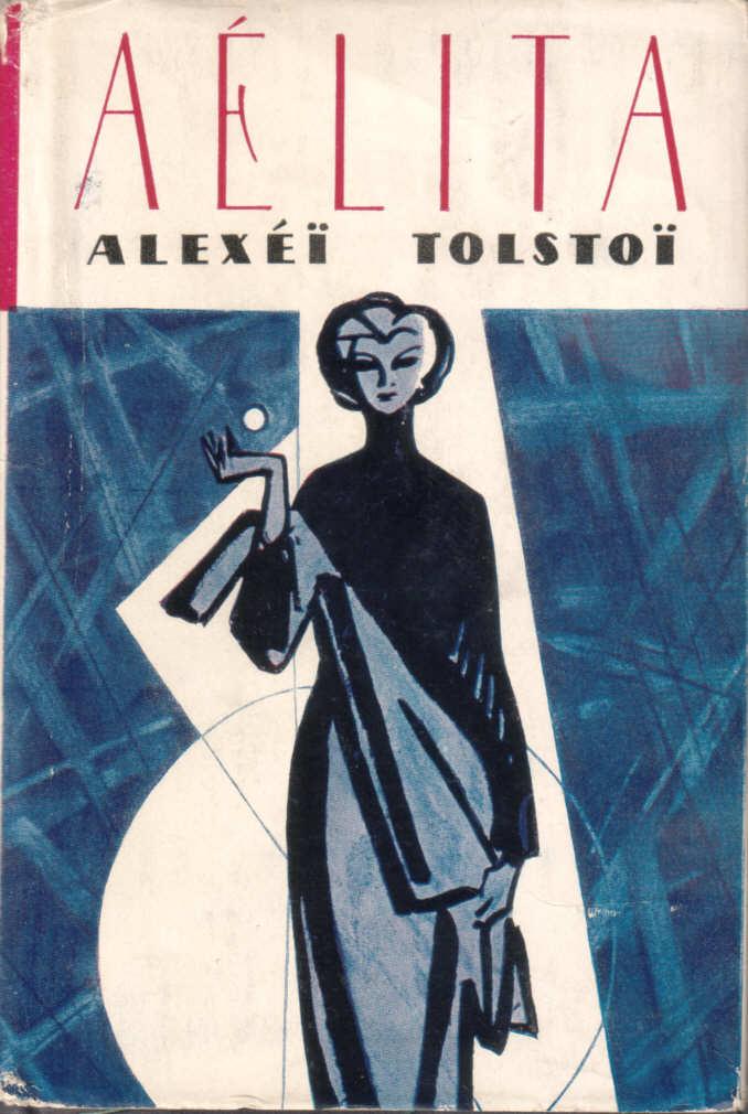 Book cover to Tolstoi's Aelita (1924)