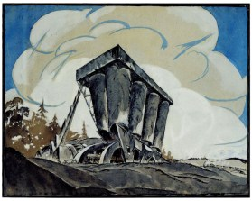 V Vladimirov, Nikolai Ladovskii's workshop, grain elevator, revelation and expression of form, 1922
