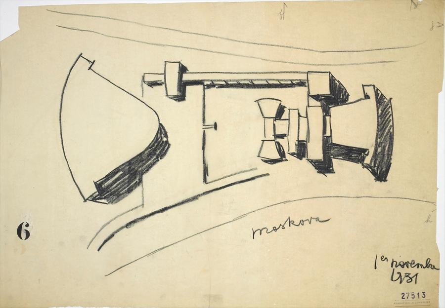 Le Corbusier, variations on the design for the Palais des Soviets November 1931