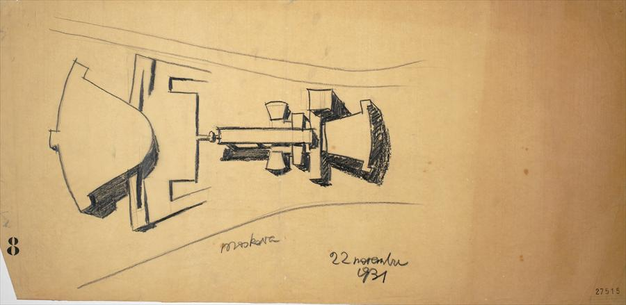 Le Corbusier, variation on the design for the Palais des Soviets (November 1931)