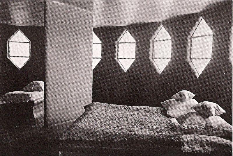 Bedroom inside the Mel'nikov house (1929)