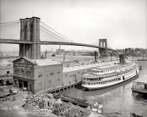 Brooklyn Bridge over East River.1905.