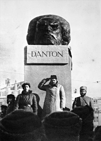 "Unveiling of Nikolai Andreev's ""Head of Danton""(1919) «Голова Дантона», 1919 г. Н. Андреев"
