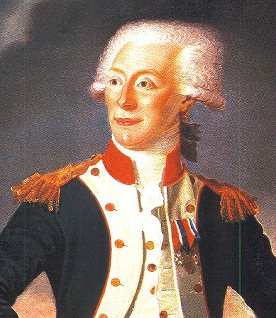 Historical depiction of the Marquis de Lafayette