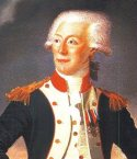 Historical depiction of the Marquis de Lafayette