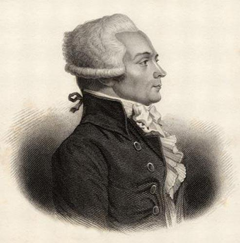 Historical representation of Robespierre