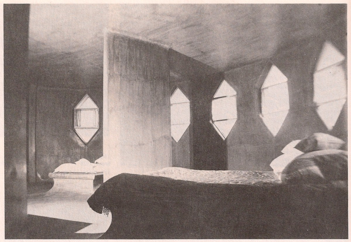 Bedroom inside the Mel'nikov house (1929)