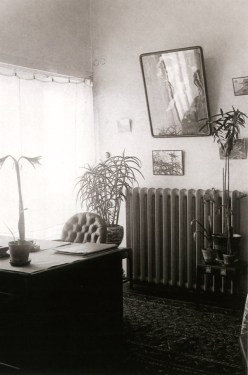 Interior of Nikolai Miliutin's penthouse suite atop Ginzburg & Milinis' Dom Narkomfin (1932)