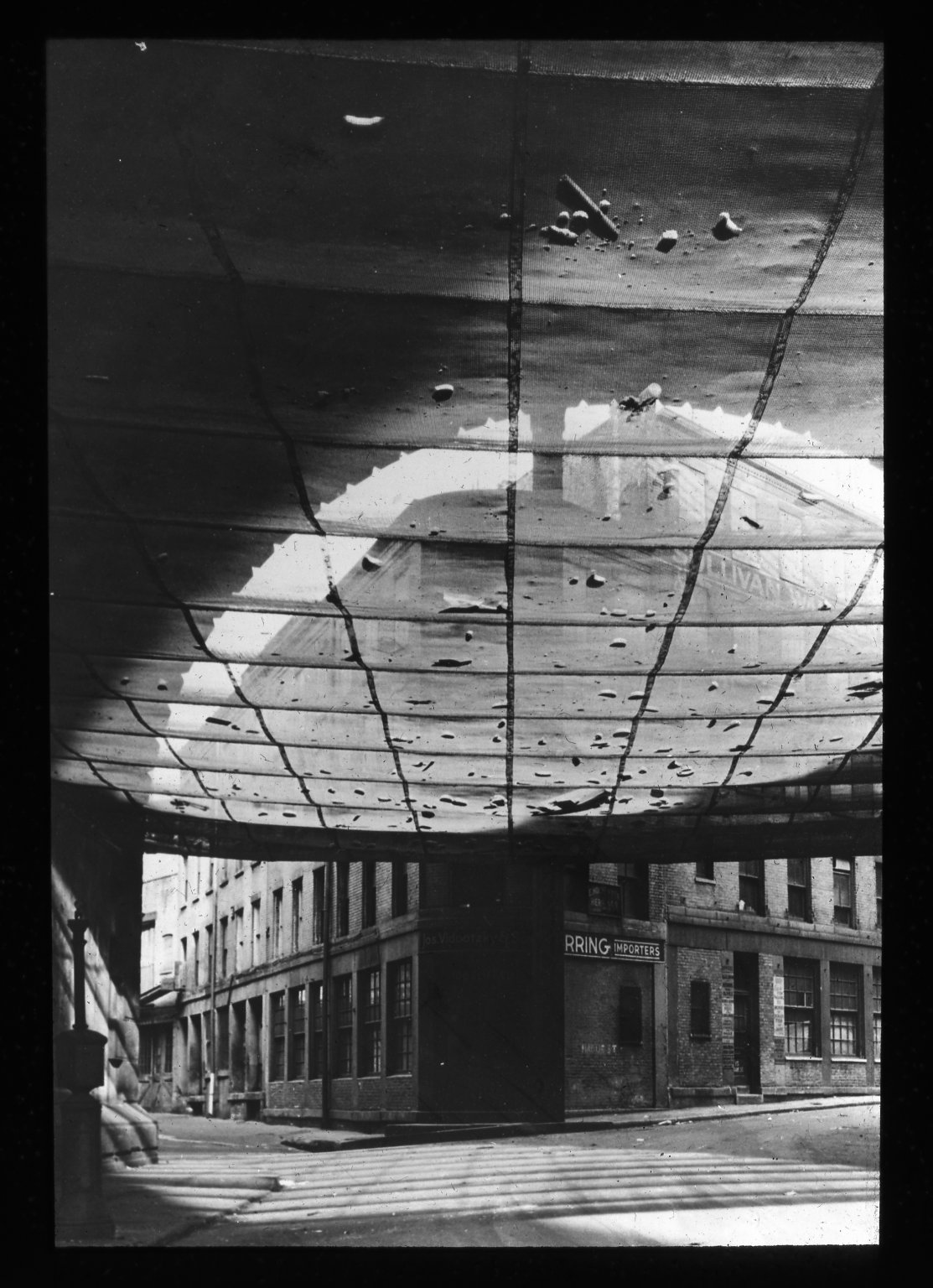 Under the Brooklyn Bridge. Creator- Paul Weller Collection- Lantern Slide Collection Views- U.S., Brooklyn Brooklyn Bridge 1896-1900