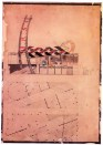 Konstantin Mel'nikov, further sketches for the Soviet pavilion in Paris (1925)