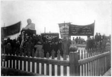 Вятка. Траурный митинг в дни похорон Ленина. Январь 1924 года.