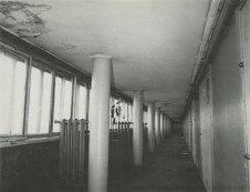 Interior hall of Moisei Ginzburg and Ignatii Milinis' Narkomfin, 1930