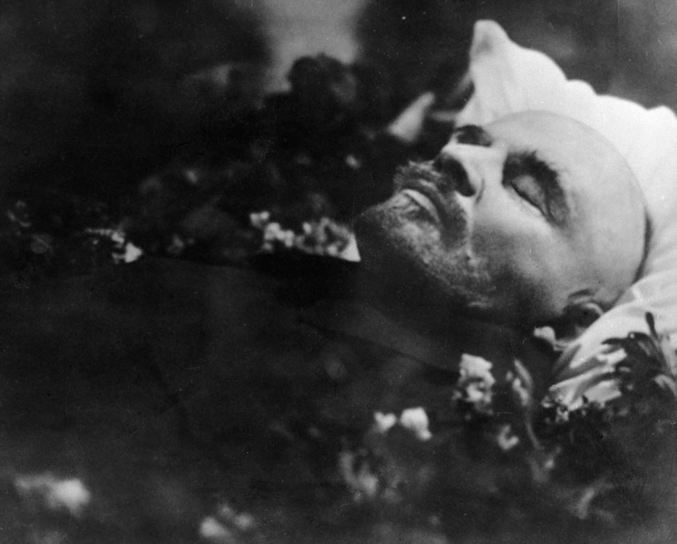 Lenin shortly after his death on January 21, 1924